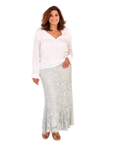 Pamela skirt teamed with model's own top